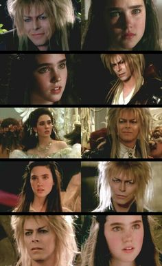 Jareth the Goblin King and Sarah - Interactions throughout Labyrinth