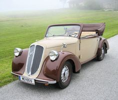Steyr 100 Kabriolet. Steyr was an Austrian automotive brand, established in 1915 as a branch of the Österreichische Waffenfabriks-Gesellschaft (ÖWG) weapon manufacturing company. Renamed Steyr-Werke AG in 1926 and merged with Austro-Daimler and Puch into Steyr-Daimler-Puch AG, it continued manufacturing Steyr automobiles until 1959.