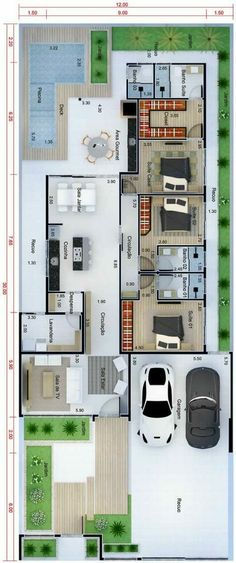 Modern Small House Design, Dream Home Design, My Dream Home, Home Interior Design, House Layout Plans, House Layouts, Cottage Floor Plans, House Floor Plans, House Construction Plan