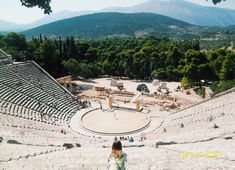 My first ever trip abroad. :) This was taken at the Ancient Theatre of Epidaurus.