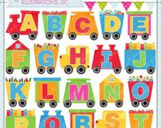 Alfabeto tren lindo Gráfico Digital para uso comercial o Personal, imágenes prediseñadas de alfabeto, alfabeto gráficos, coches del tren