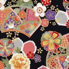 Wonderful Japanese Pattern - Black Flowers Kyoto - Pivoine et Tapioca