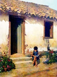 27 Best ideas for painting oleo landscape Easy Watercolor, Watercolor Landscape, Landscape Art, Landscape Paintings, Painting & Drawing, Watercolor Paintings, House Painting, Galerie D'art, House Drawing