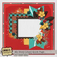 Scrapbooking TammyTags -- TT - Designer - Jen C Designs, TT - Item - Quick Page