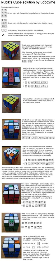 Guide for solving the Rubik's Cube - 9GAG