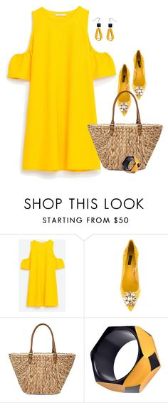 """""""Untitled #6741"""" by lisa-holt ❤ liked on Polyvore featuring Dolce&Gabbana and Straw Studios"""