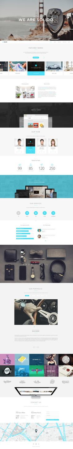 Solido Multi-Purpose Theme by Medusateam, via Behance