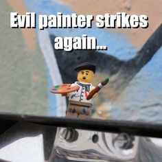 Evil painter strikes again...  via brickmeme.com