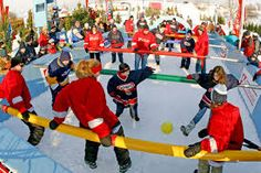 The Giant Fooz Ball Game at the Quebec Winter Carnival