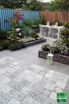 Garden Tiles, Patio Tiles, Garden Paving, Outdoor Tiles, Terrace Garden, Garden Paths, Tropical Landscaping, Tropical Garden, Backyard Landscaping