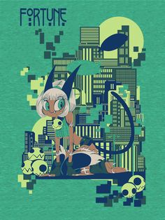 The Cat of Innsmouth This mischievous Skullgirls design features Nadia Fortune, completmented by a beautiful microcosm of New Meridian. The Little Innmouth resident is known to be quite the stitch-up