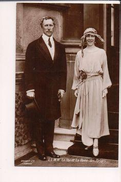 Vintage Postcard King Albert I & Queen Elisabeth of Belgium