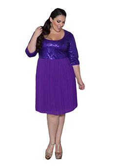 Sealed With A Kiss Designs Plus Size Tracey Sequin Dress - Size 3X, Purple Sealed with a Kiss Designs Plus Size http://www.amazon.com/dp/B00P70EXII/ref=cm_sw_r_pi_dp_.In9ub0TJ55BS