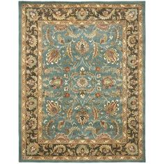 Handmade Heritage Blue/Brown Wool Area Rug (9' x 12') | Overstock.com Shopping - The Best Deals on 7x9 - 10x14 Rugs