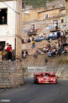 Motorsports archives: The works Alfa Romeo Rolf Stommelen and Andrea de Adamich Targa Florio Sicily 1973 Sports Car Racing, Road Racing, Sport Cars, Race Cars, Auto Racing, Le Mans, Classic Motors, Classic Cars, Alfa Romeo Cars