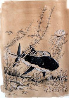 Hommage a herge / le tresor de rackam le rouge par Christophe Chabouté - Planche originale