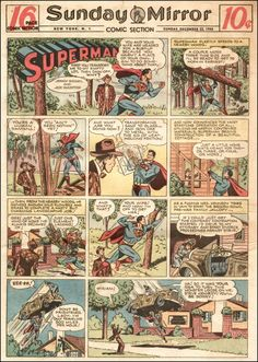 Superman, The Sunday Mirror Newspaper, January 1946