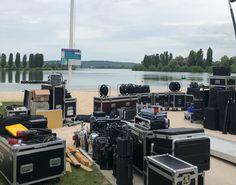 Derniers préparatifs des #JIJ2018 avant l'arrivée des délégations au Camping International du Lac de Vaivre-Montoille.