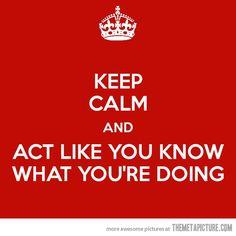 Keeping calm!