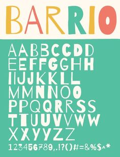 Barrio is based on hand-lettering and revives the freshness of the sidewalk sellers.