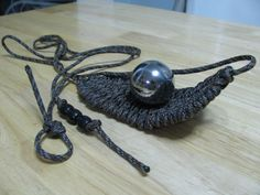 paracord rock sling - how to