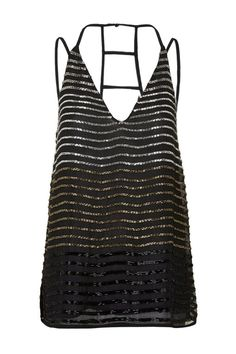 de61f7fab1a3c Embellished Ombre Cami Top Black Tank Tops, Cami Tops, Topshop Style,  Beaded Top