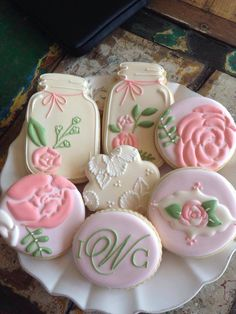 Pretty pink cookies ♥