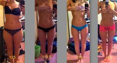 happyhealthyfitness:    cantbuymethin:    the crazy thing about this is that its only a 10 pound difference    HOT DAAAAMN!