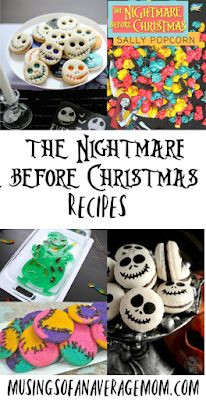 Nightmare before Christmas recipes - nightmare before Christmas inspired recipes - Christmas Food Ideas For Dinner, Christmas Food Gifts, Dessert For Dinner, Holiday Treats, Christmas Recipes, Christmas Drinks, Homemade Christmas, Sally Nightmare Before Christmas, Nightmare Before Christmas Decorations