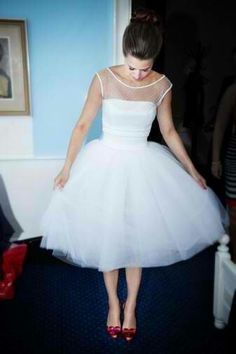 Possible reception dress for dancing in