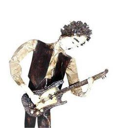Escultura Guitarrista - R$77.00