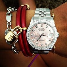 like this Rolex minus the flowers.