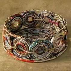 Other types of paper art: Thankful Friend Recycled Paper Basket