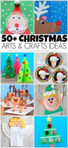 50+ Christmas arts and crafts ideas for kids. Great Christmas crafts for kids, Christmas craft projects and Christmas art project for kids. #christmasartsandcraftsideas #christmascrafts #ChristmasCraft #christmascraftsforkids #iheartcraftythings
