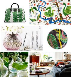 Designs from Svensk Tenn  Click on link to discover Josef Frank, a renowned designer