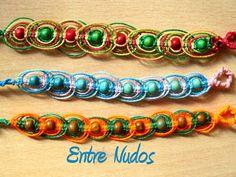Pulseras circulares. Diferentes colores. Elige tu color y haz tu pedido.  #EntreNudosMacrame