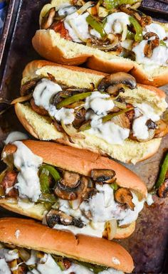 Philly Cheese Brats are a great 30 minute meal you can make almost entirely on the grill! Perfect for summer cookouts! Bratwurst Recipes, Sausage Recipes, Hot Dog Recipes, Sandwich Recipes, Recipes With Brats, Lunch Recipes, Grilling Recipes, Cooking Recipes, Gourmet