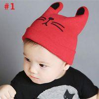 Nuevo Estilo de Punto de Algodón Beanie Cap Infant Toddler Bebé de La Venta Caliente de Diseño de Dibujos Animados Otoño Invierno Headwear SW160
