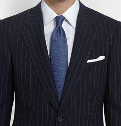 Harrys Navy Pinstriped Super 120s Wool Suit - NavyKingsman uhNkl