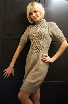 Cute Dress :) Would like to do it in a bright color for a summer sweater dress - FREE PATTERN!