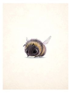 bee alone by pentwaterpaper found on buzzzzzzie bees blog post, catchoo cutie pie blog.