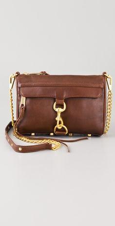 Rebecca Minkoff Mini MAC Bag, finally brown and gold! Stylish Handbags, Best Handbags, Mini Handbags, Leather Handbags, Little Bag, Clutch Wallet, Handbag Accessories, Rebecca Minkoff, Purses And Bags