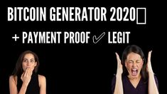 BITCOIN GENERATOR 2020💰 + PAYMENT PROOF ✅ LEGIT Bitcoin Mining Software, Free Bitcoin Mining, What Is Bitcoin Mining, Bitcoin Miner, Earn More Money, Make Money Online, How To Make Money, Bitcoin Generator, Bitcoin Logo