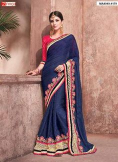 MAYLOZ-Women's Beautiful  Georgette Saree With Blouse      #Sarees #Fashion #Trending #Nice #Popular #Offers #deals #Looking #Fashionable #Look #Zinngafashion #Zinnga