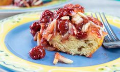 Savor a sweet Morning Snack (Family Features) Add some sweetness to your breakfast routine with this delicious and easy-to-make Cherry Coffee Cake. Round Cake Pans, Round Cakes, Cinnamon Roll Dough, Canning Cherry Pie Filling, Canned Cherries, Coffee Cake, Great Recipes, Breakfast Recipes, Snacks