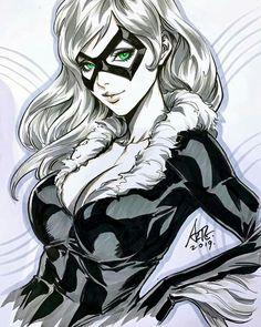 Black Cat by Artgerm Spiderman Black Cat, Black Cat Marvel, Comic Book Artists, Comic Books Art, Comic Art, Bd Comics, Comics Girls, Marvel Girls, Marvel Art