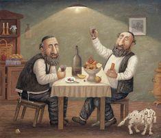 Image about jews in art. Arte Judaica, Feminist Art, Jewish Art, Naive Art, Judaism, Folk, All Art, Illustrators, Photo Art