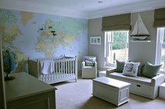 Children's Bedroom / Map / Boys room / Nautical theme