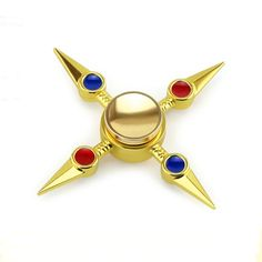 CT Toys Fidget Hand Spinner Bearing Ball Golden Zinc Alloy For Autism And ADHD Professional