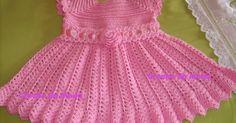 Vestido de croche infantil